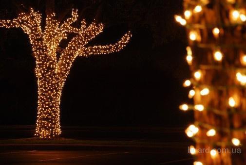 Световые электрические гирлянды на деревья ЛУЧ-5