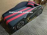 Кровать машинка Ламборгини машина серии Элит Ламборджини желтая Lamborghini с матрасом и бесплатной доставкой, фото 3