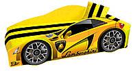 Кровать машинка Ламборгини машина серии Элит Ламборджини желтая Lamborghini с матрасом и бесплатной доставкой, фото 1