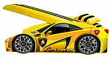 Кровать машинка Ламборгини машина серии Элит Ламборджини желтая Lamborghini с матрасом и бесплатной доставкой, фото 5