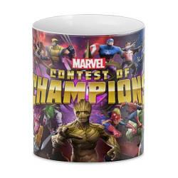 Кружка GeekLand белая Марвел: Битва Чемпионов
