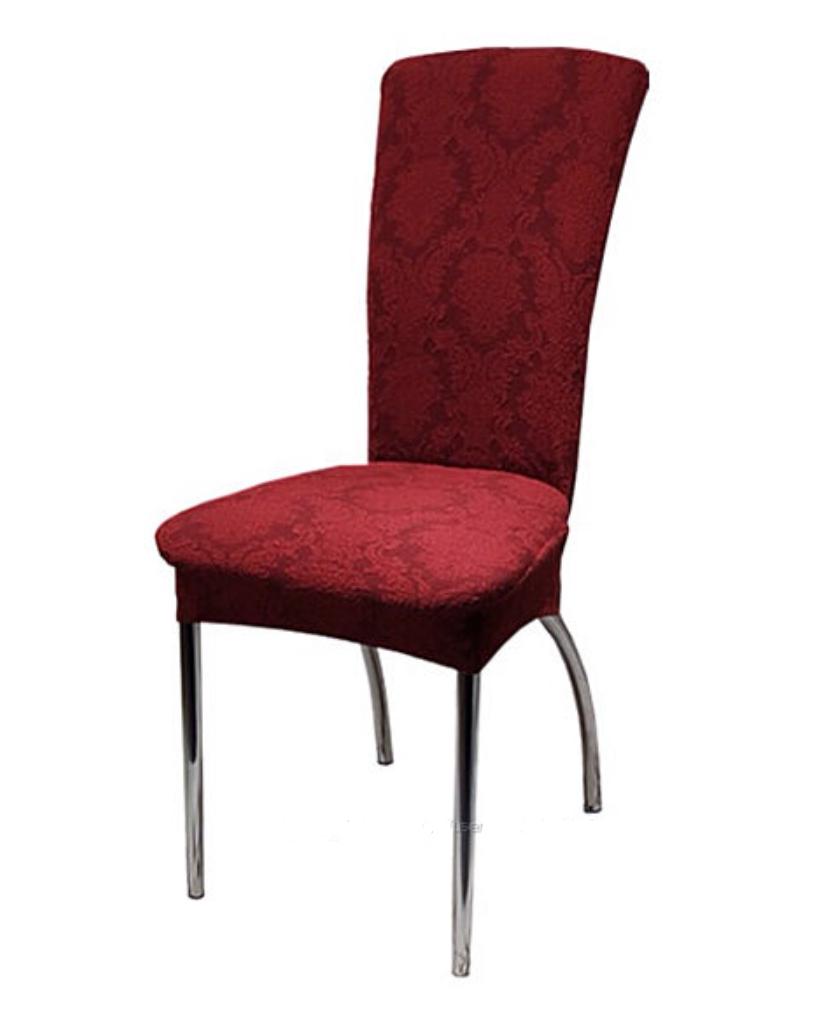 Чехлы жаккардовые универсальные на стулья без рюши