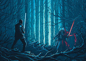 Картина GeekLand Star Wars Звёздные Бой 60х40см SW.09.057