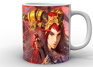 Кружка GeekLand World of Warcraft Мир Военного Ремесла эльфийка WW.02.54