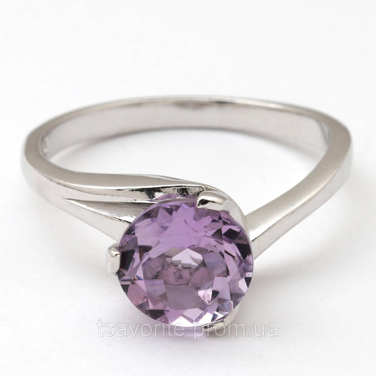 Серебряное кольцо с аметистом КЖХ-18