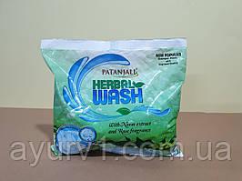 Натуральный гипоаллергенный стиральный порошок с Нимом и Розой Патанджали, 0,5 кг