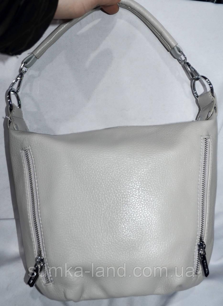 Женские маленькие сумочки, клатчи на молнии 24*21 см (серая)
