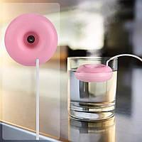 Увлажнитель воздуха портативный пончик (humidifier2) Розовый