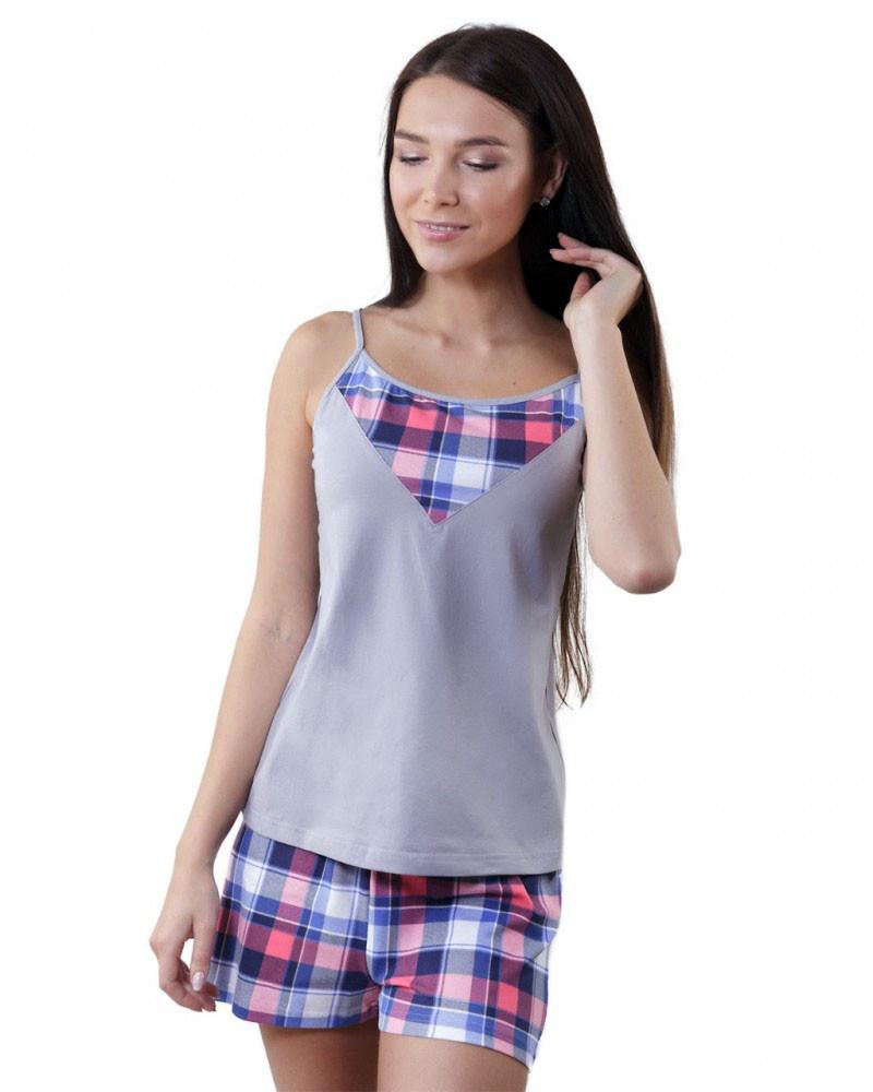 Женская пижама с майкой и шортами (XS-XL)