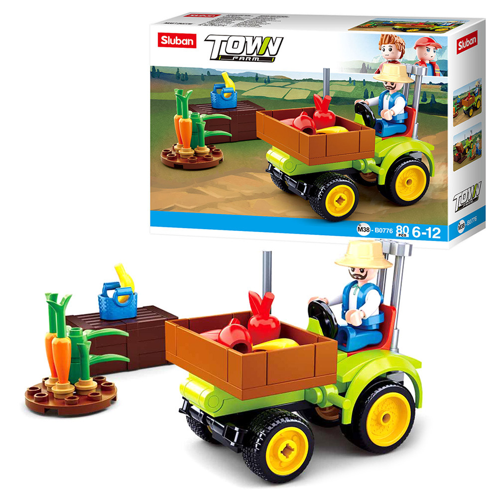 Конструктор детский SLUBAN M38-B0776 Трактор, 80 деталей
