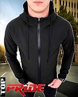 Куртка мужская Puma Soft Shell весенняя ветровка (черная) В1