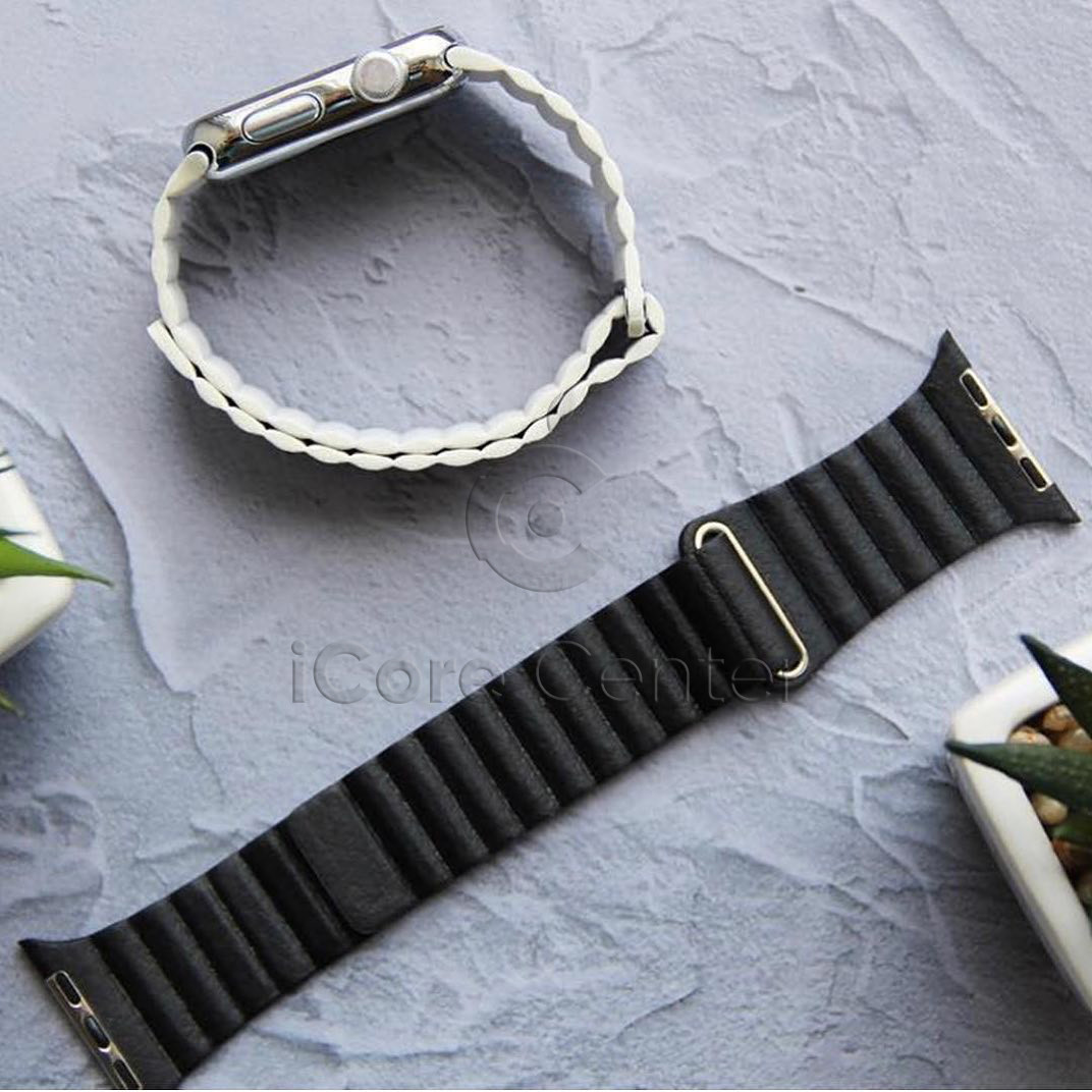 Ремінець Leather loop for Apple Watch 38/40mm Charcoal gray (Вугілля)