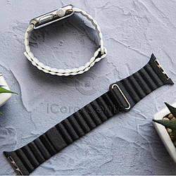 Ремешок Leather loop for Apple Watch 38/40mm Charcoal gray (Уголь)