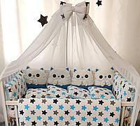 """Детское постельное белье в кроватку """"Котята"""", комплект постельного в кроватку, набор в кроватку"""