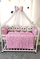 """Детское постельное белье в кроватку """"Котята"""", комплект в кроватку, постель для кроватки"""