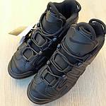 Мужские кроссовки Nike Air More Uptempo (черные) 1987, фото 6