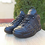 Мужские кроссовки Nike Air More Uptempo (черные) 1987, фото 8