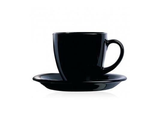 Чайный сервиз 12 предметов 220 мл черный Carine Luminarc P4672
