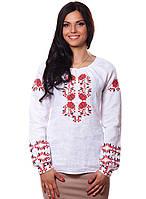 Белая женская вышиванка из льна (S-2XL), фото 1