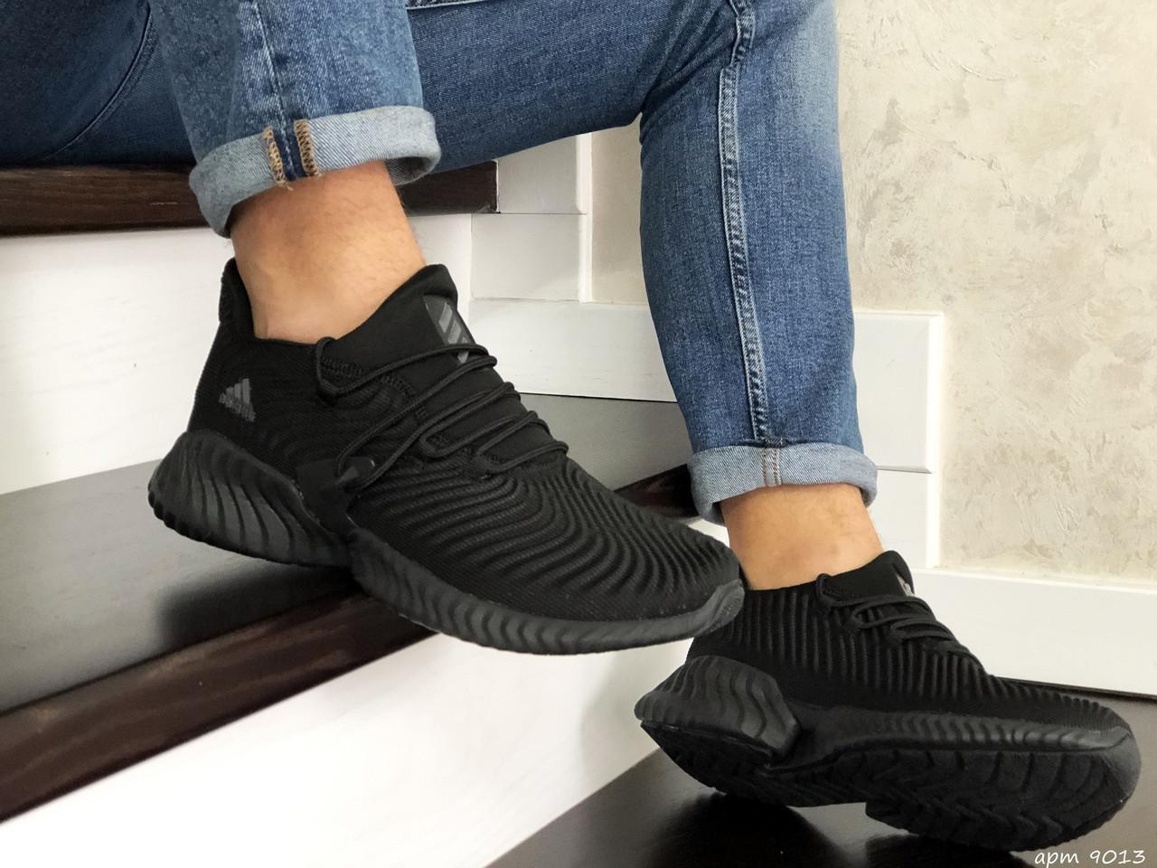 Мужские кроссовки Adidas (черные) 9013