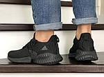 Мужские кроссовки Adidas (черные) 9013, фото 3