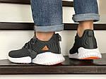 Мужские кроссовки Adidas (серые) 9015, фото 3