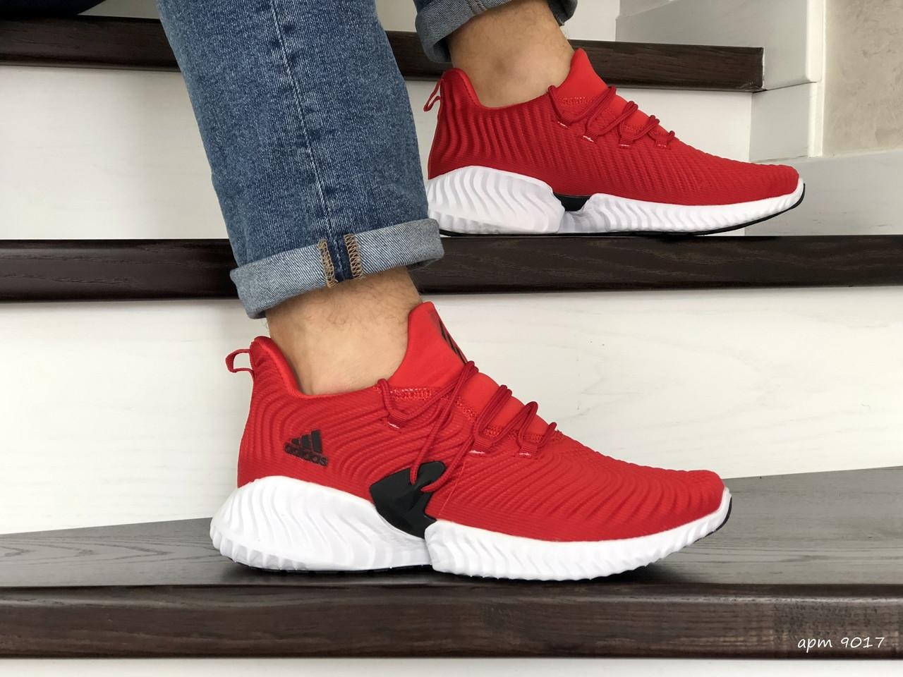 Мужские кроссовки Adidas (красные) 9017
