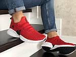 Мужские кроссовки Adidas (красные) 9017, фото 3