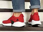 Мужские кроссовки Adidas (красные) 9017, фото 4