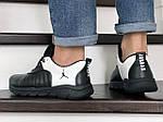 Чоловічі кросівки Nike Air Jordan (чорно-білі) 9027, фото 3