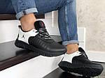Чоловічі кросівки Nike Air Jordan (чорно-білі) 9027, фото 4