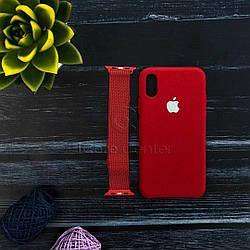 Ремінець Milanese Loop for Apple Watch 38/40mm Red