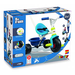 Велосипед триколісний Be Fun Blue Smoby 740323, фото 3
