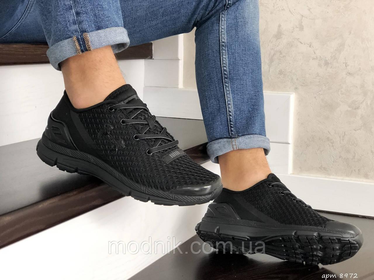 Мужские кроссовки Under Armour SpeedForm Gemini (Черные) 8972