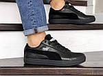 Мужские кроссовки Puma Suede (черные) 8975, фото 4
