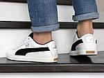 Мужские кроссовки Puma Suede (белые) 8976, фото 3