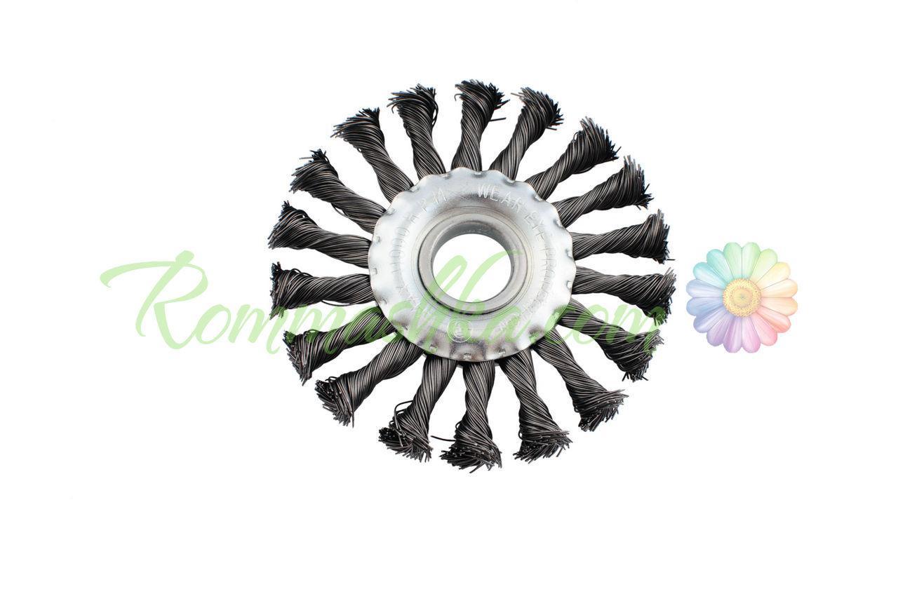 Щетка дисковая Intertool - 125 мм, плетеная