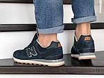 Мужские кроссовки New Balance 574 (темно-синие с оранжевым) 8981, фото 3