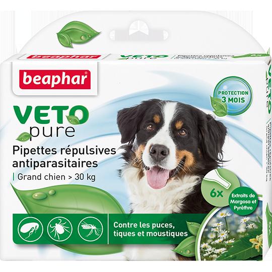 БИО Капли от блох и клещей Beaphar Veto pure для собак свыше 30 кг (цена за упаковку 3 шт)