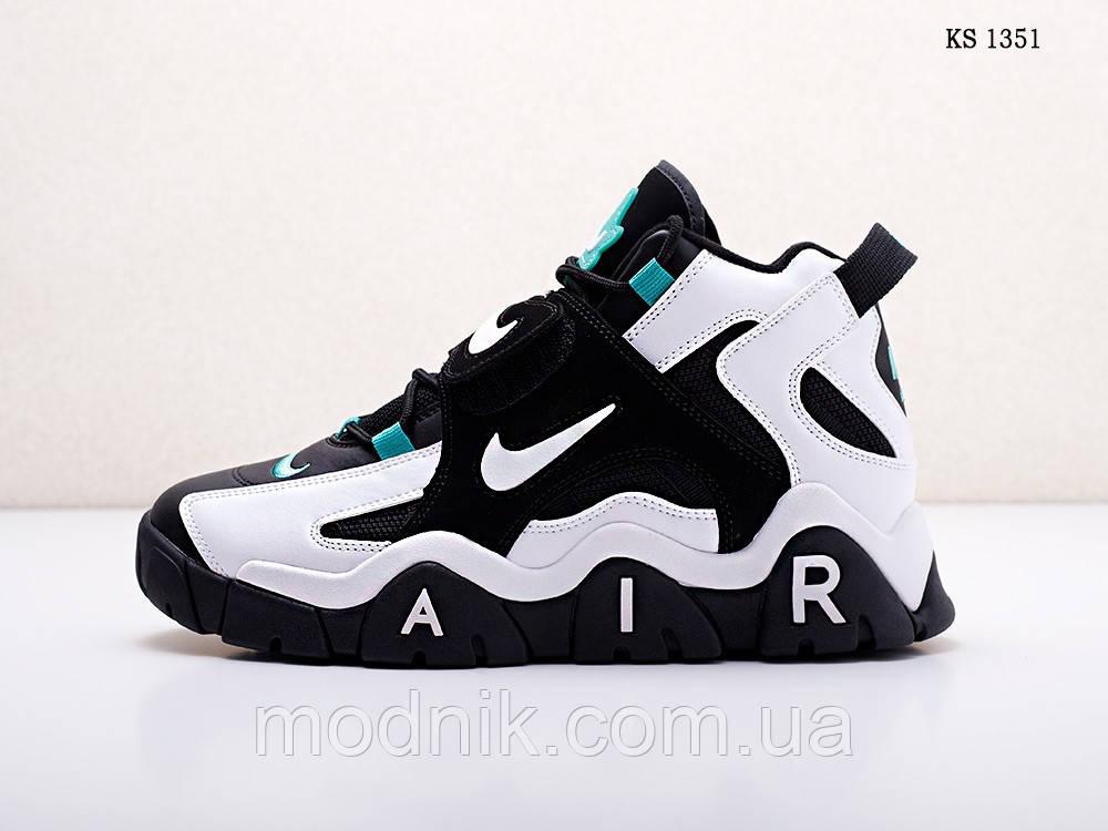 Мужские кроссовки Nike Air Barrage Mid (черно-белые) 1351