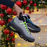 Мужские зимние кроссовки Nike Air Max 95 Sneakerboot (разноцветные) ТЕРМО 1352