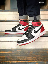 Мужские кроссовки Nike Air Jordan 1 Retro High OG (черно/бело/красные) 1359