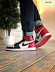 Мужские кроссовки Nike Air Jordan 1 Retro High OG (черно/бело/красные) 1359, фото 2