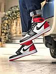 Мужские кроссовки Nike Air Jordan 1 Retro High OG (черно/бело/красные) 1359, фото 5