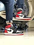 Мужские кроссовки Nike Air Jordan 1 Retro High OG (черно/бело/красные) 1359, фото 7