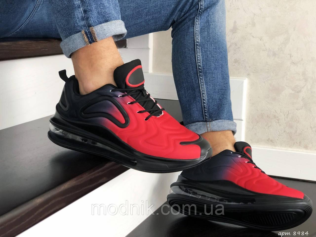 Мужские кроссовки Max 720 (черно-красные) 8984