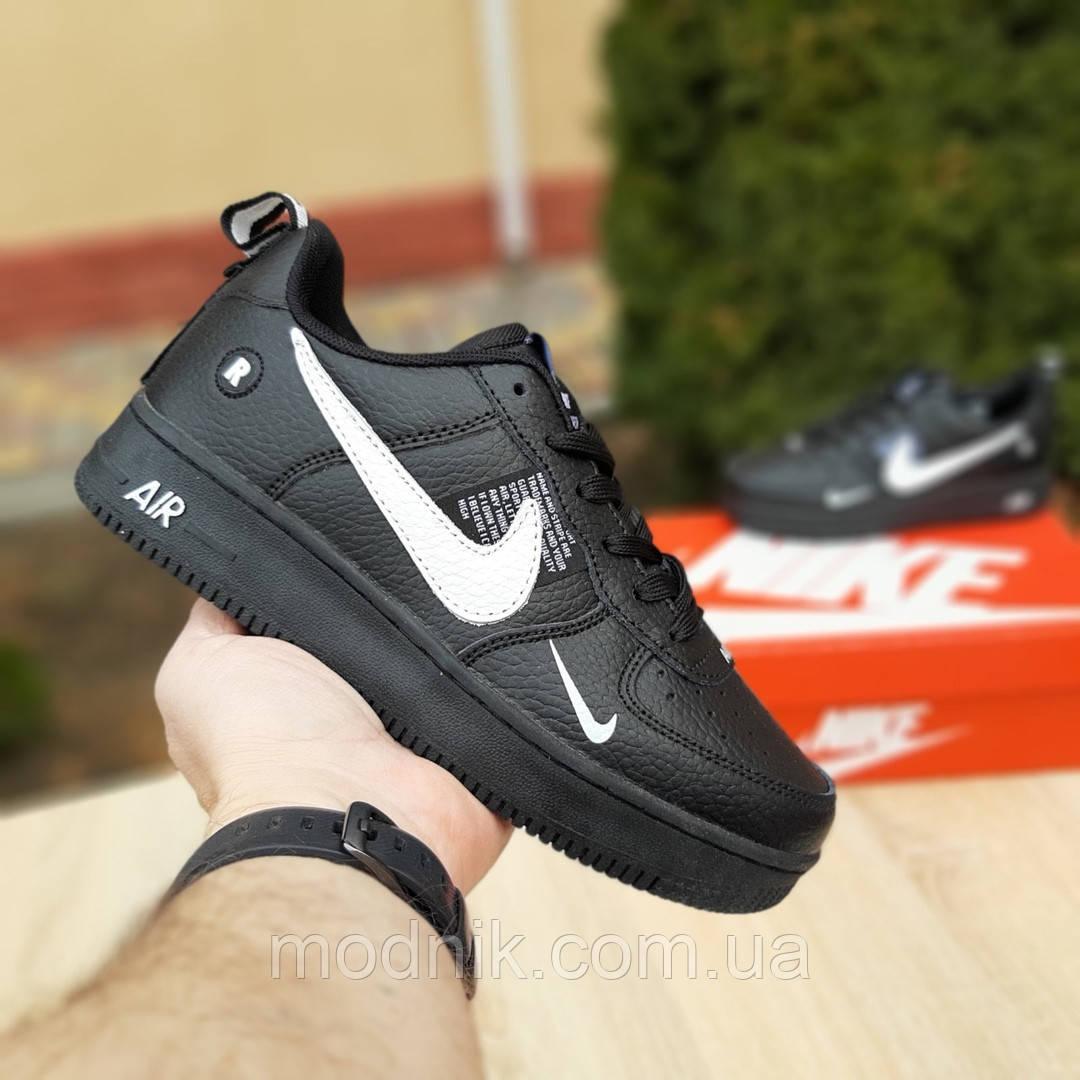 Мужские кроссовки Nike Air Force 1 LV8 (черно-белые) 10010