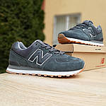 Мужские кроссовки New Balance 574 (серые) 10008, фото 4