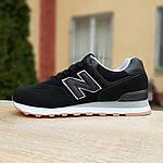 Мужские кроссовки New Balance 574 (черные) 10007, фото 2
