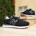 Мужские кроссовки New Balance 574 (черные) 10007, фото 7